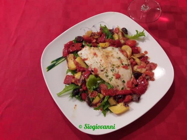 orata e verdure mediterranee