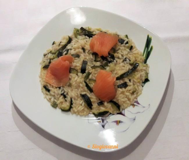 zucchine e salmone affumicato