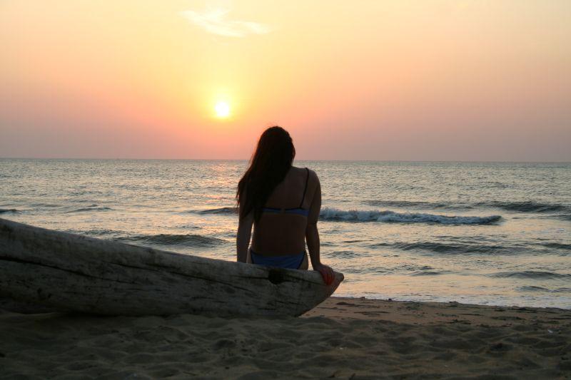stare soli al tramonto